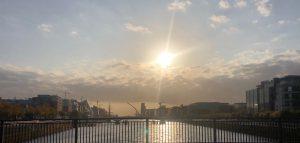 Sun rise over Dublin